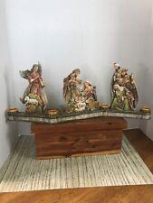 Unique Candle Holder Nativity Scene