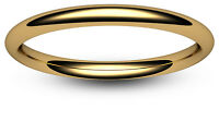 9ct YELLOW GOLD 2 3 4 5 6 7 8mm COURT WEDDING RING BAND LIGHT MEDIUM HEAVY 375