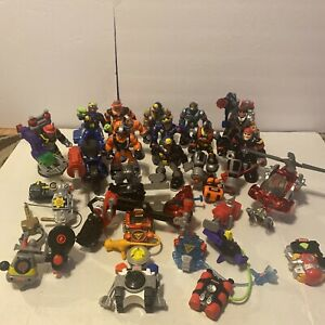 Large Lot Fisher Price Rescue Heroes Over 30 Action Figures, Vehicles, Tools