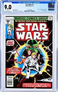 STAR WARS #1 MARVEL COMICS 1977 | Original 1st Print | CGC GRADED 9.0 MINT