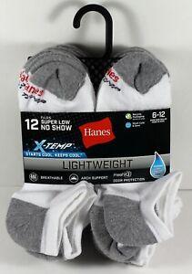 12-Pack: Hanes Men's X-Temp Active Cool Super Low No Show Socks, Shoe Sizes 6-12