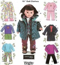 "18"" Girl DOLL Clothes Jeans Jacket PJs Simplicity 5733 American Sewing Pattern"