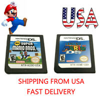 MARIO 64 DS/Super Mario Bros Game Card For Nintendo 3DS DSI DS XL Xmas Gift USA