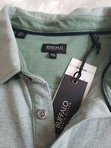 NWT Buffalo David Bitton Men's Polo Golf Shirt XXL Sage Green
