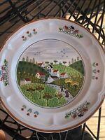 Newcor Stoneware COUNTRY VILLAGE Dinnerware Set - 40 Pieces Plus Extra Pieces