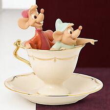 Lenox  Tea Party Pals Figurine Cinderella MIce Gus and Jaq NEW COA