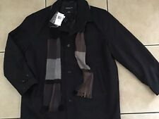 NEW MEN'S ~LONDON FOG~ Wool Coat WITH  FREE SCARF Size: XL Retail $250 LS12462