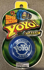 YOYO SUPER ACTION CLASSIC JA-RU BLUE NEW IN ORIGINAL PACKAGE WALK THE DOG NICE