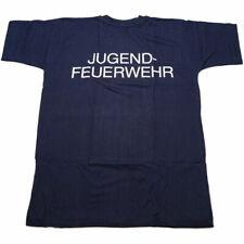 T-Shirt Enfants Jugendfeuerwehr (Jeune Sapeur-Pompier) ,Größe 116,Bleu Navy