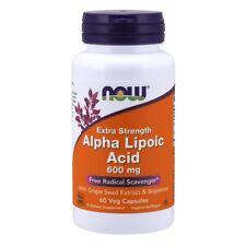 Now Foods Extra Résistance Acide Alpha Lipoïque 600 MG - 60 Végétarien Capsules