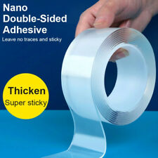 Clear Nano Magic Double Sided Gel Tape Traceless Removable Washable Adhesive UK