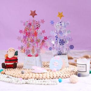 Creative 3D Christmas Pop Up Cards Santa Xmas Tree Invitation Greeting Cards