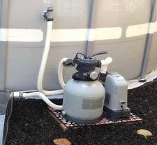 Intex Saltwater Generator, Sand Filter Pump, 18' Solar Pool Cover, & More-P/U Ma
