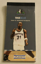 2006 2007 06-07 Minnesota Timberwolves Season Ticket Booklet With Playoff Lot 2