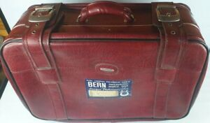 Vintage Custom Red Suitcase with Buckles