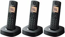 TELEFONO INALAMBRICO DECT TRIO - PANASONIC KX-TGC313 - LCD - NEGRO - NUEVO