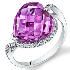 14 Kt White Gold 9.15 cts Pink Sapphire and Diamond Ring R61714