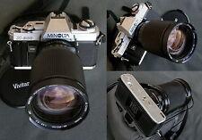 ✅   MINOLTA X300 + 28/200mm f3,5 Vivitar - bella e garantita  XD5 XD7 XM X700