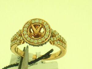 LE VIAN 14K ROSE GOLD MOUNTING WITH 0.38 CTW WHITE DIAMONDS - RETAIL $3,547.50
