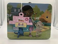 Disney Doc McStuffins 24 Piece Puzzle In Tin Lunch Box NEW FREE SHIPPING