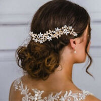 Fashion Crystal Wedding Hair Pins Bridal Slide Comb Bride Accessories Jewelry-