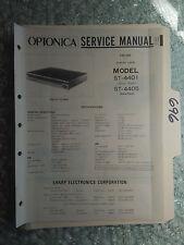 Optonica st-4401 4405 Sharp service manual original repair book stereo tuner