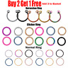 Nose Ring Hoop Surgical Steel Lip Ear Piercing Clicker Ring Helix Tragus Lobe UK