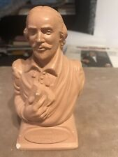 william shakespeare bust Light Red Plaster With Birth & Death Date