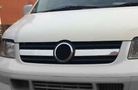 Chrome 2Pc Front Grille Trim Covers To Fit Volkswagen T5 Transporter (03-09)