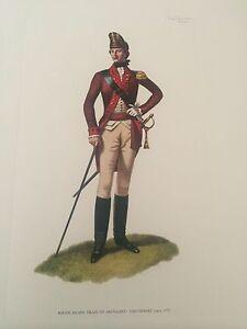 American Army Uniform S/N Arthur Barbosa Set Of 2 Lithographs