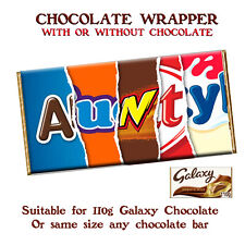 Aunty Chocolate Bar Wrapper Novelty Gift Present For Birthday Christmas