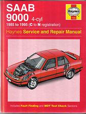 Saab 9000 4cyl. 1985-1995 (C - N Reg.) Haynes Service & Repair Manual