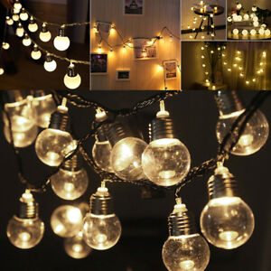 80 LED Solar Powered Fairy String Lights Outdoor Garden Party Wedding Xmas AU