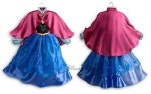 Neuf Disney Store Exclusivité Princesse Frozen Anna Costume Robe Tailles 3-9/10