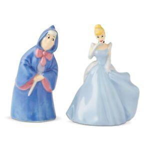 Enesco Disney Ceramics Cinderella and Fairy Godmother Salt & Pepper New with Box