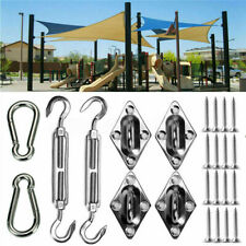 More details for 8 pcs 304 stainless steel outdoor sun sail shade canopy fixing fitting screws