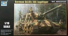00923 Destroyer Static Armored German Sd.Kfz.186 Jagdtiger 1/16 Tank Trumpeter