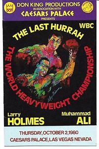 Muhammad Ali Larry Holmes Promotional Program  1980 Boxing