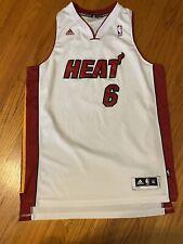 LeBron James Adidas Miami Heat Home White Swingman Jersey Men's XL