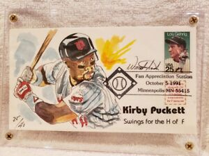 VERY RARE Kirby Puckett 1991 World Series Cachet of 40, Minnesota Twins, MINT!!
