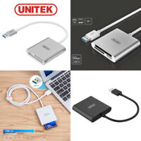 UNITEK USB 3.0 Multi Memory Card Reader Adapter For CF SD Micro SD SDHC SDXC MD