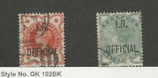 Great Britain, Postage Stamp, #O2, O11 Used, 1882-1888 Officials