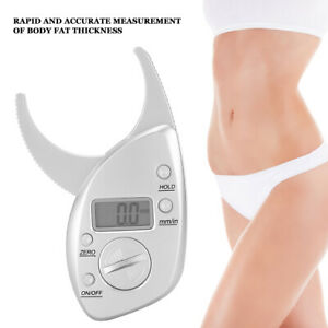 Body Fat Caliper Body Measuring Tape Tester Digital Fitness Weight Loss Muscle