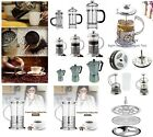 GLASS CAFETIERE COFFEE PRESS PLUNGER STAINLESS STEEL JUG POT GROUND FILTER MAKER