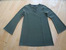 PRETTY LITTLE THING ladies army green long sleeve tunic dress UK 10 EXCELLENT
