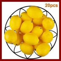 Set of 20 Fake Plastic Lemons Decorative Artificial Imitation Fruit Home Decor