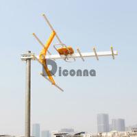 1080 P 4K Digital TV Outdoor Antenna Aerial UHF VHF FM Signal Amplifier Booster