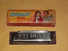 VINTAGE MADE IN INDIA STUDENT BAND HARMONICA IN BOX