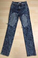 Vibrant M.I.U MIU Jeans Skinny Pants Distressed with Holes Size 3