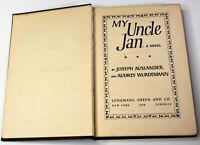 1948 Vintage Book My Uncle Jan Novel Joseph Auslander